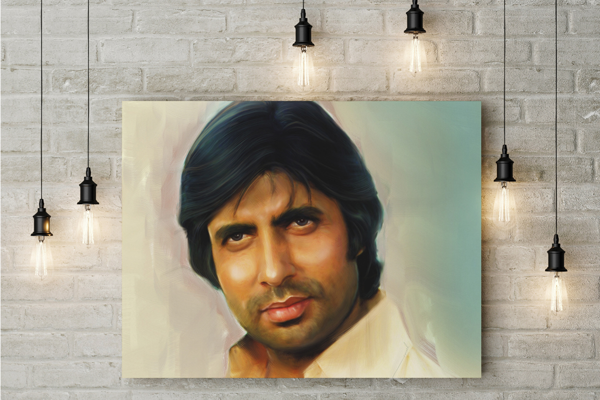 amitabh digital painting
